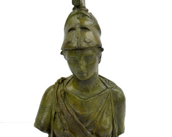 Athena Goddess of Wisdom and Strategy bronze sculpture