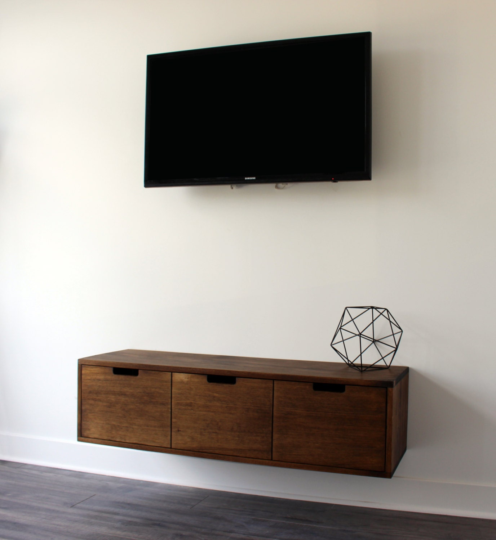 Foyer Console Xbox : Walnut tv console amazoncom fitueyes wall mounted