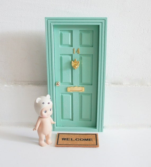 Tooth fairy door mint fairy door magic door accessories in for Elf door accessories