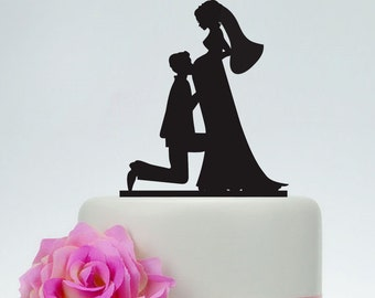 Pregnant wedding cake topper,Bride and Groom Silhouette Cake Topper,Custom Cake Topper,Unique Cake Topper,Rustic Cake Topper P110