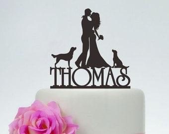 Wedding Cake TopperBride And Groom TopperCouple SilhouetteCustom Topper