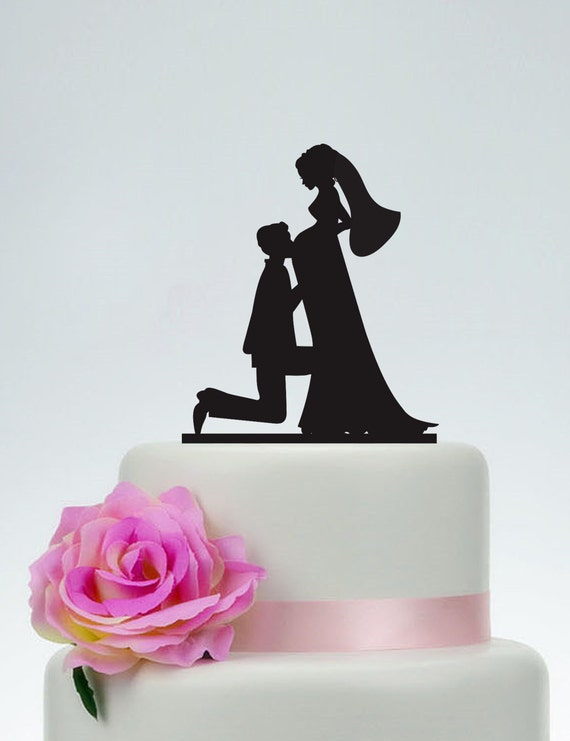 pregnant wedding cake toppers wedding cake topperbride and groom silhouette cake 18719