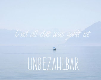 Beatiful art print, photo and german quote