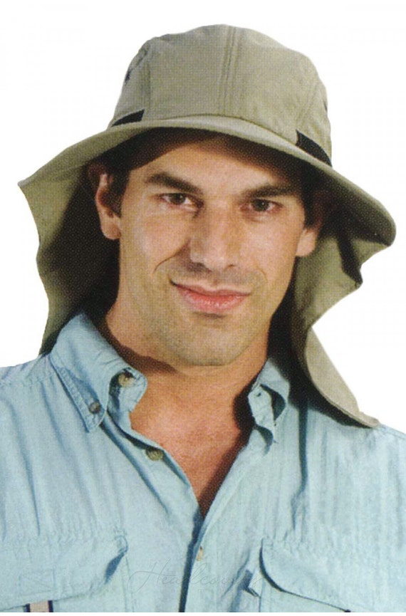 Mens Flap Hat Men's Sun Protection Hat by HeadcoversUnlimited
