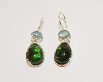 "Green custom 1"" Earrings"