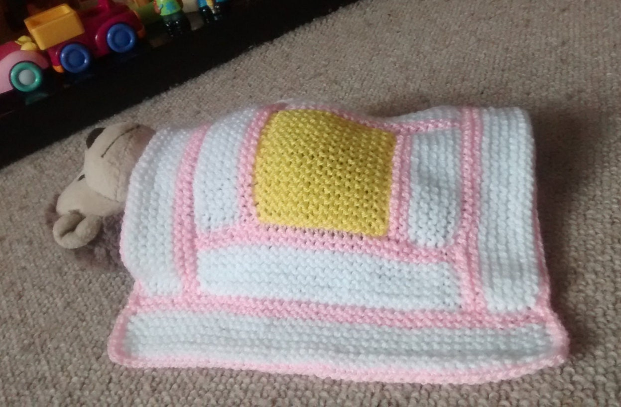 Daisy Doll Knitting Pattern : Daisy doll blanket hand knitted doll blanket baby by ...