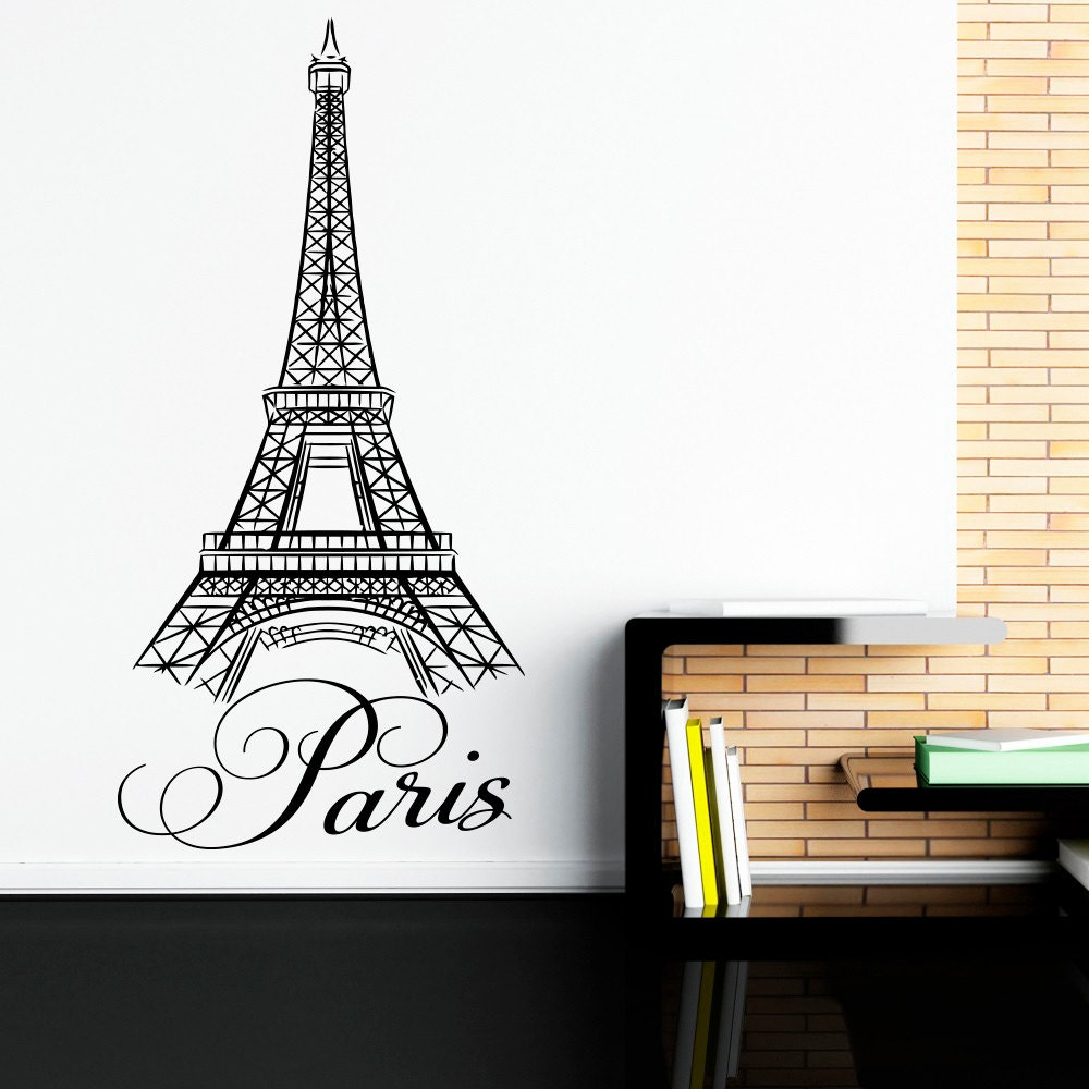 paris wall decals vinyl stickers paris letters wall art vinyl. Black Bedroom Furniture Sets. Home Design Ideas