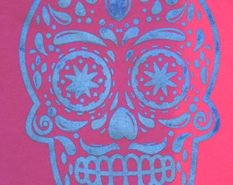 Kids Sugar Skull Shirt - Great for Halloween/Dia de los Muertos