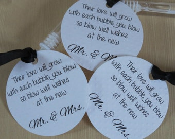 Wedding Ceremony Bubble Tags, Tags ONLY