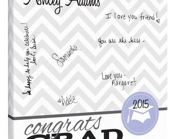 Graduation Guest Book~Graduation Gift~Personalized Graduation Gift~Signature Canvas~Graduation Party Keepsake~