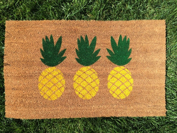 paillasson ananas tapis daccueil ext rieur personnalis. Black Bedroom Furniture Sets. Home Design Ideas