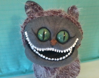 Professional, handmade, glove puppet, Cheshire Cat,  Alice Wonderland, supreme quality, unique, ooak, one of a kind, free shipping
