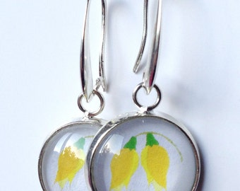 Kōwhai Flower - Kiwiana Earrings