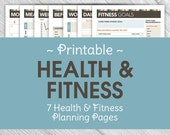 Printable Health & Fitness Planning Pages - Fitness Organization, Fitness Planners, Health Planners, Instant Download