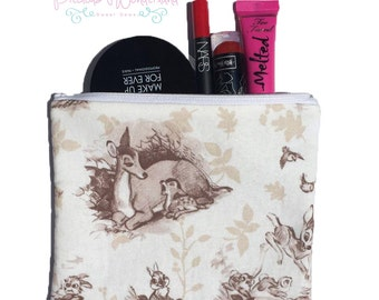 Classic Bambi Themed Makeup / Pencil Bag