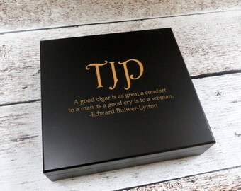 Personalized Humidor - Groomsmen - Best man - Gifts for Men - GrandFather