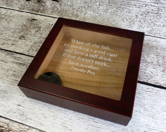 Personalized Cigar Humidor - Gifts for Men - Groomsmen Gift - Fathers Day - Best Man