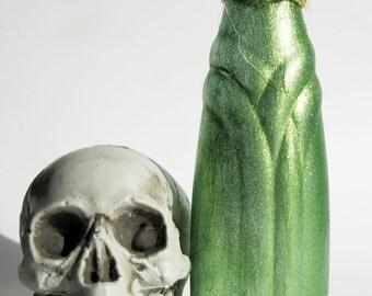 Halloween Potion Bottle Decoration Witches Kitchen Green Glitter
