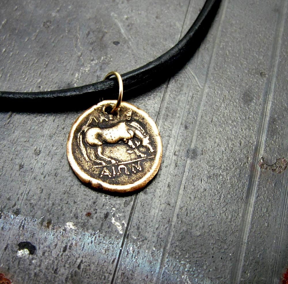 ancient necklace coin jewelry bronze mens
