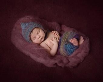 Newborn photo prop fluff 3.5 oz / photography props newborn baby / photo prop basket stuffer / felt basket filler / photo prop wool fluff