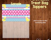 DUCK BABY SHOWER or gender reveal party favor bag toppers- Digital File