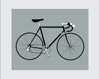 Bicycle Art Print, 8x10 PRINTABLE, 10 Speed Bike, Instant Download, Digital