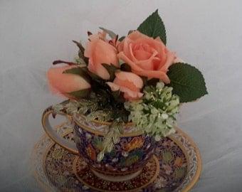 """teacup centerpiece,  """"Tea Time"""""""