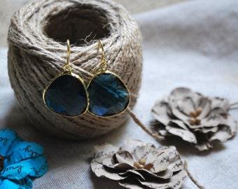 Blue as day, Dangle Earrings, Drop Earrings, Glass Crystal Earrings, Blue Earrings, Blue Crystal Earrings,