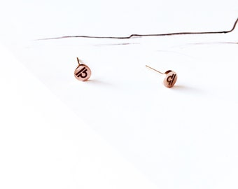 Libra  Earring 18K Rose Gold Horoscope Stud Earring Star Sign Earring Simple Everyday Earring Birthday Gift Horoscope Astrology Earring