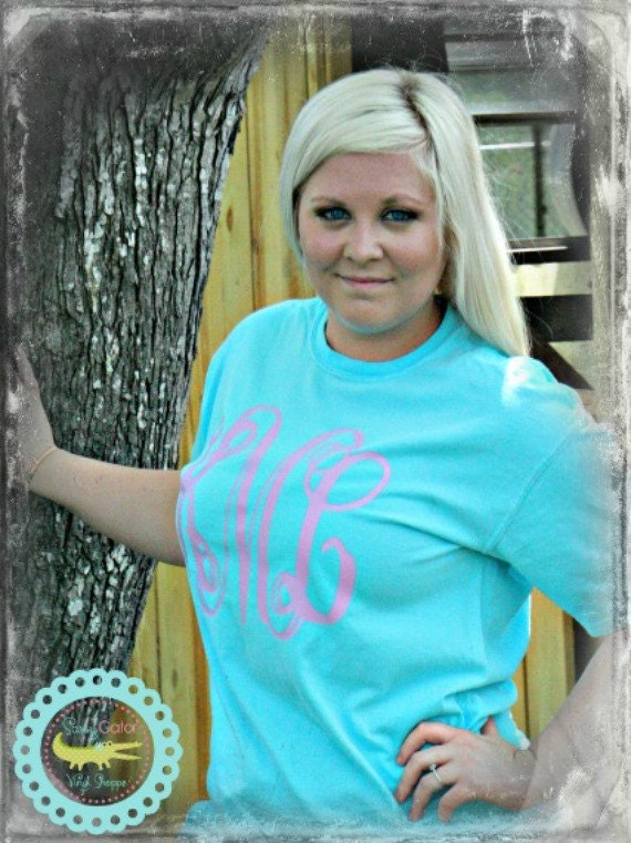 Womens Plus Size Tops, Plus Size Monogrammed Comfort Color Shirts, Just for Her, Womens Tops