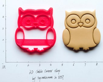 Owl Cookie Cutter owl Party owl Birthday owl Baby owl Fabric owl invitation owl nursery owl cake topper owl shirt 34B