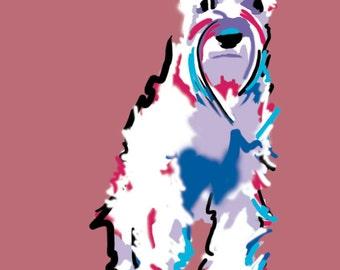 9x12 Schnauzer Art - Dog Art - Print