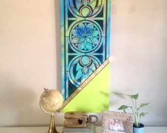Original Art Stained Glass Window Painting