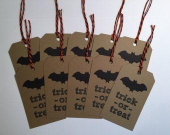 Handmade Halloween Bat Tags, Scrapbooking, Card Making, Gift Tags