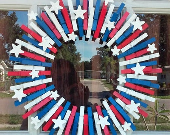 Stars and Stripes Patriotic Wreath