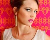 Rectangle Drop Earrings , Geometric Long Earrings , Cool Minimalistic Earrings.