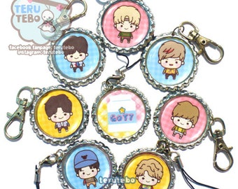 "GOT7  Kpop ""Just right"" / got7 just right  / cute kpop phone charm"