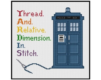 Doctor Who TARDIS In Stitch - Cross Stitch PDF Pattern Instant Download