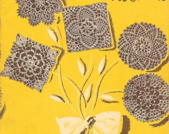 Crochet Tablecloth Patterns, New Tablecloths, Crochet  Book, 1940s Flowers Crochet Motifs, Vintage Book