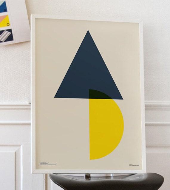 Demi lune poster imprimable 50 x 70 cm a3 a4 for Fenetre 70 x 50