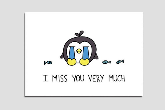 Dynamic image within printable miss you cards