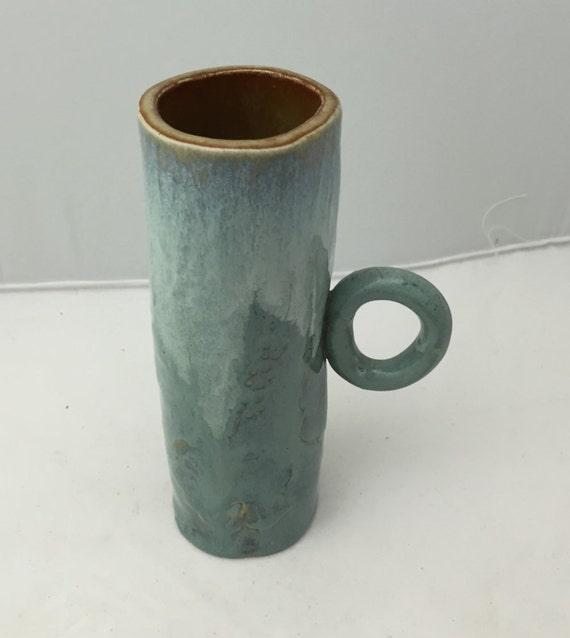 Ceramic Mug Vase Handmade Pottery Utility Holder Kitchen