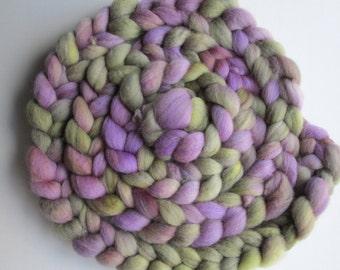 8 oz Hand Dyed Roving Braid  100% BFL