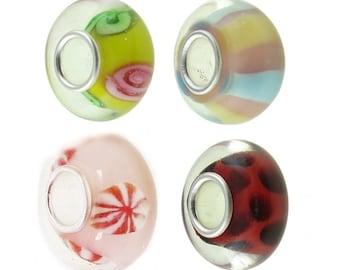 Timeline Treasures European Charm Bracelet Bead Fits Pandora Lampwork Glass Just for Girls 2013