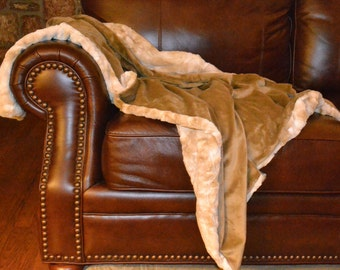 Minky Throw Blanket, Adult Throw, Living Room Accessories, Bedroom Accessories.