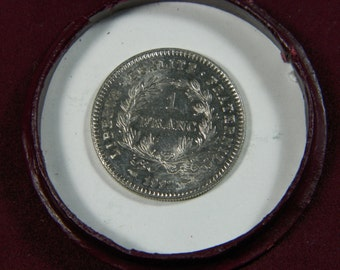 French coin 1 FRANC silver | Type Republic | French Republic | FRANCE | Year: 1992