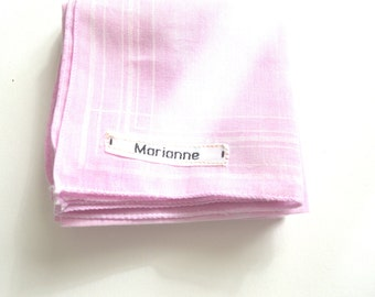 Subtly Tie Dyed Pale Pink Handkerchiefs