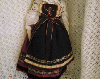 """Rohmer-""""Leontine""""-Antique Reproduction Fashion Doll in traditional Alsace costume-20"""" tall"""