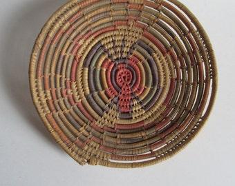VINTAGE Hopi Coil Tray Southwest Indian