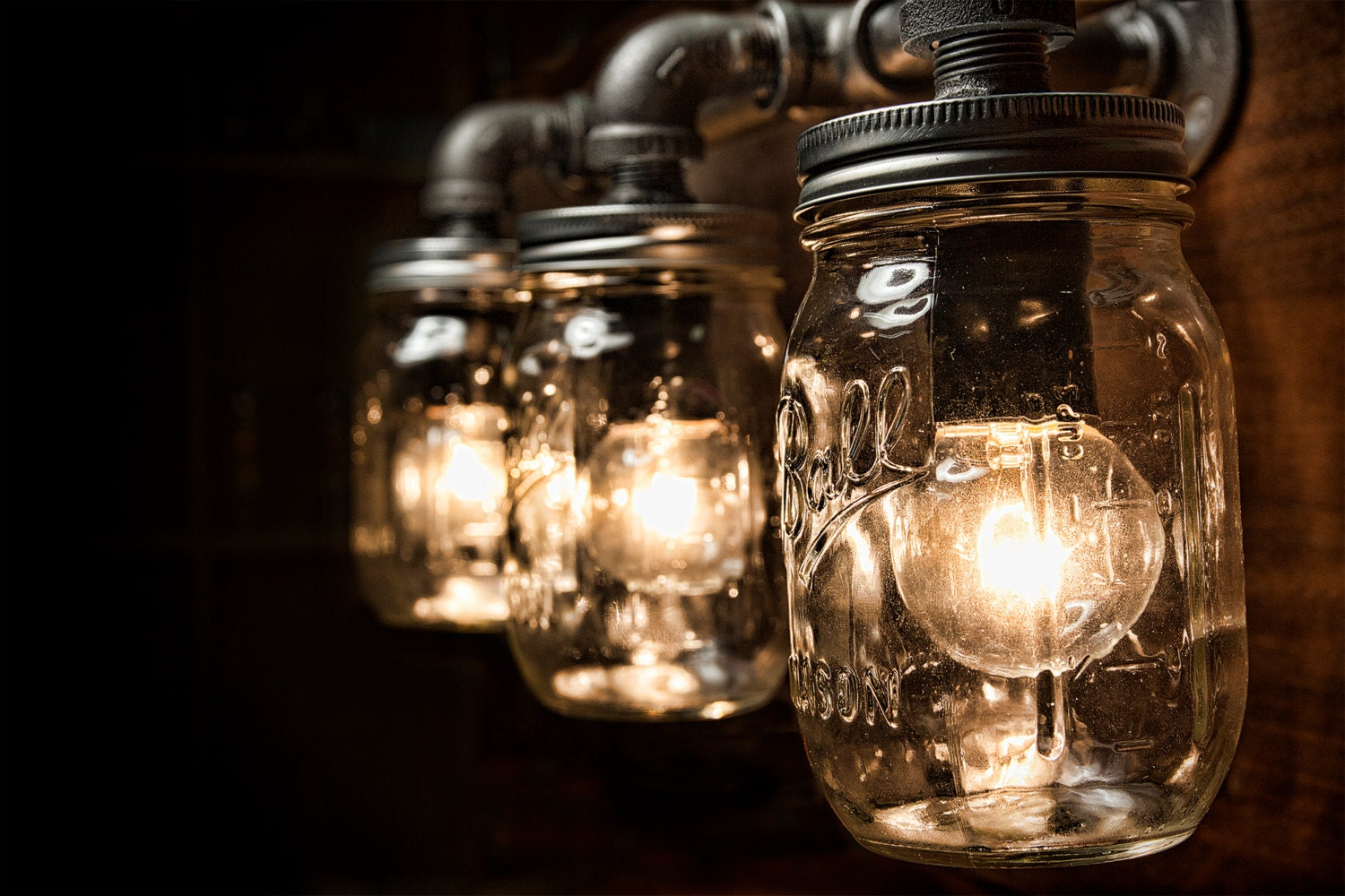 Mason Jar Vanity Lights : Chandeliers & Pendant Lights